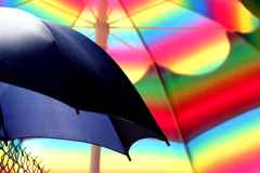 Colorful umbrella. Close-up image of a pair of umbrella Royalty Free Stock Photography