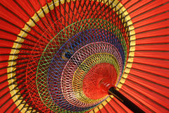 A colorful umbrella. A traditional colorful umbrella in Kyoto,which had been the capital of Japan for 1,000 years Royalty Free Stock Photo