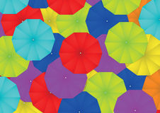 Colorful umbrella abstract background Royalty Free Stock Photo