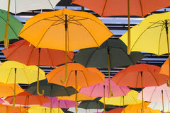 Colorful Umbrella. On the air Royalty Free Stock Images
