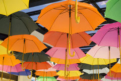 Colorful Umbrella. On the air Stock Images