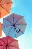 Colorful umbrella background Royalty Free Stock Photo