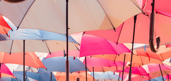 Colorful umbrella background Royalty Free Stock Photography
