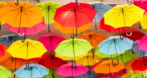 Colorful Umbrella Background Stock Photography