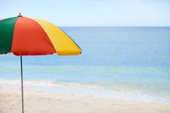 Colorful umbrella at beach Stock Photography