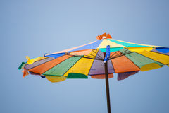 Colorful umbrella on the beach Stock Image