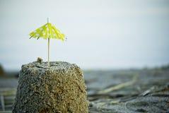 Colorful umbrella at the beach Stock Photos