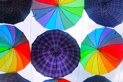 Colorful umbrella design pattern Royalty Free Stock Photography