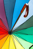 Colorful umbrella with handle Stock Photos