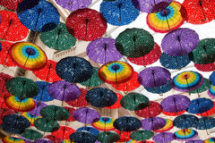 Colorful Umbrella. Hanging from the roof Royalty Free Stock Photos