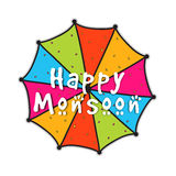 Colorful umbrella for Happy Monsoon. Stock Photography