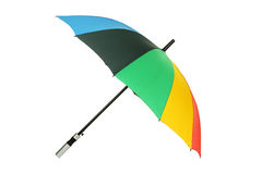 Colorful umbrella isolated on white. Stock Images
