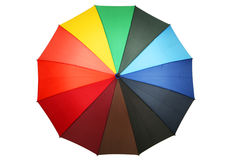 Colorful umbrella isolated on white. Royalty Free Stock Image
