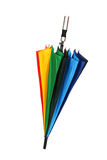 Colorful umbrella isolated on white background Royalty Free Stock Photos