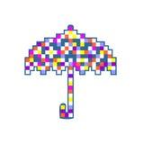 Colorful umbrella isolated on white background Royalty Free Stock Images