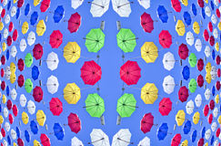 Colorful umbrella Stock Images