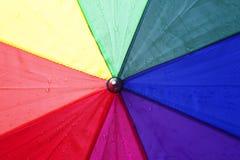 Colorful umbrella with rain drops Stock Image