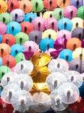 Colorful umbrella texture. Stock Images
