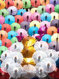 Colorful umbrella texture. Stock Images
