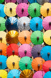 Colorful umbrella texture on the wall. Royalty Free Stock Photos