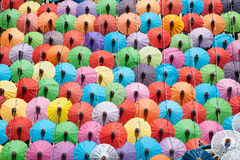 Colorful umbrella texture on the wall. Stock Images