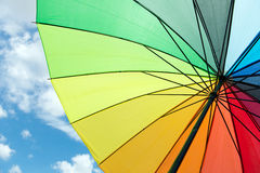 Colorful umbrella under blue sky Stock Photo