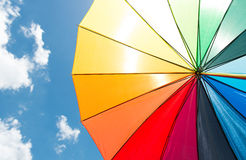 Colorful umbrella under blue sky Royalty Free Stock Image