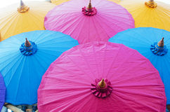 Colorful umbrella vintage style art Royalty Free Stock Photos