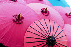 Colorful umbrella vintage style art Stock Photos