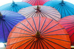 Colorful umbrella vintage style art Royalty Free Stock Image
