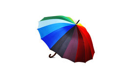 Colorful umbrella on white background Royalty Free Stock Photo