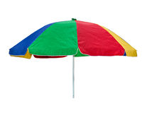 Colorful umbrella on white background Royalty Free Stock Images