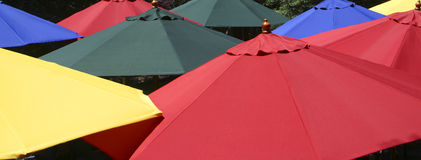 Colorful umbrellas. A pattern of colorful umbrellas Stock Photos