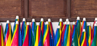 Colorful umbrellas. Royalty Free Stock Photo