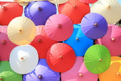 Colorful umbrellas Stock Photography