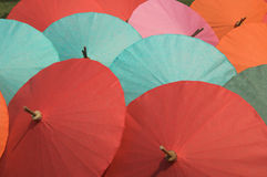 Colorful umbrellas. Thai paper umbrellas Royalty Free Stock Photos