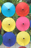 Colorful umbrellas. Thai handmade umbrellas Stock Photo