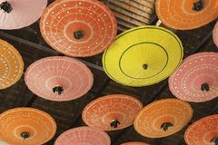 Colorful umbrellas background. Royalty Free Stock Image