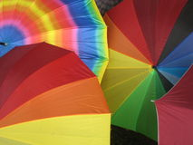 Colorful umbrellas Stock Image