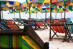 Colorful umbrellas at beach Royalty Free Stock Image