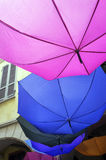 Colorful umbrellas. Color image Royalty Free Stock Images
