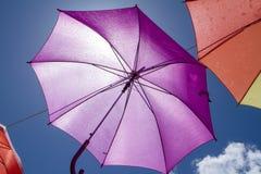 Colorful umbrellas - decoration Royalty Free Stock Photos