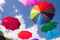 Colorful umbrellas - decoration Royalty Free Stock Photo