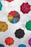 Colorful umbrellas - decoration Stock Photo