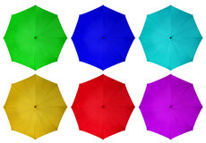Colorful umbrellas isolated Stock Image