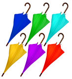 Colorful umbrellas isolated Royalty Free Stock Photos