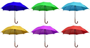 Colorful umbrellas isolated Royalty Free Stock Image