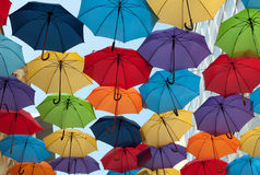 Colorful umbrellas Stock Images