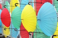 Colorful umbrellas Stock Photos