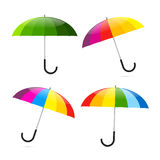 Colorful Umbrellas Set Illustration Royalty Free Stock Images